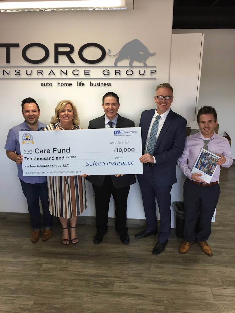 Toro Insurance and Care Fund check presentation