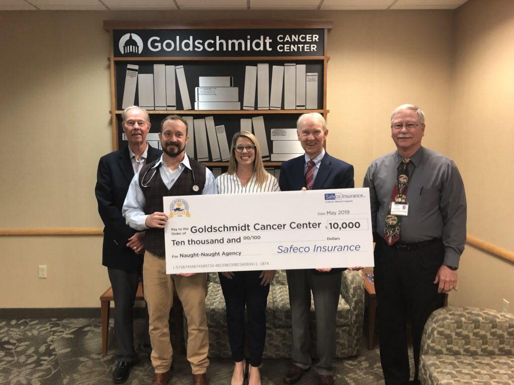 Naught-Naught and Goldschmidt Cancer Center check presentation